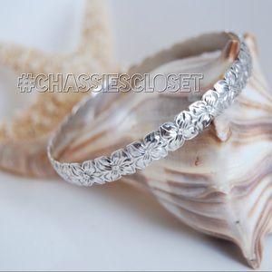 Hawaiian Heirloom 925 Bangle Bracelet & Ring Set